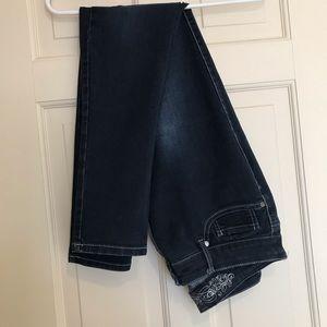Express Blue Denim Skinny Jeans